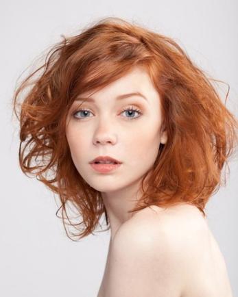 Покажите красивый рыжий цвет волос